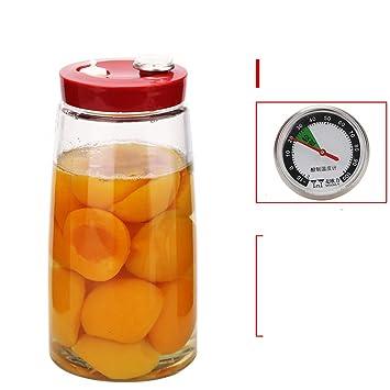 TEFGFHFBCVBC Termómetro Sellado Tanque Escape Fruta Botellas ...