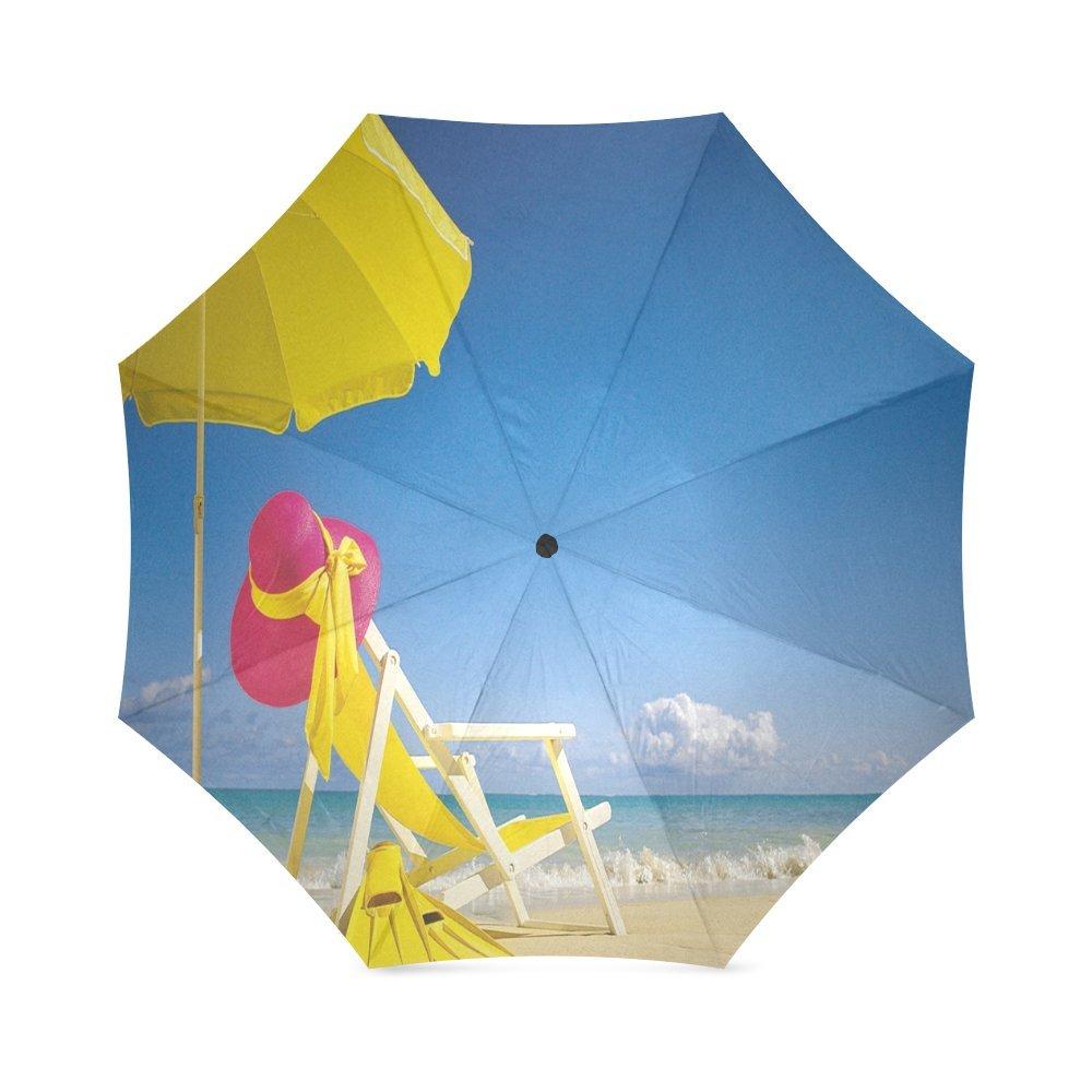 durable service Custom Beach Chair Compact Travel Windproof Rainproof Foldable Umbrella
