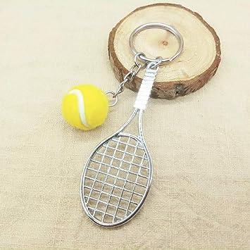 Llavero de raqueta de tenis estilo deportivo (amarillo ...