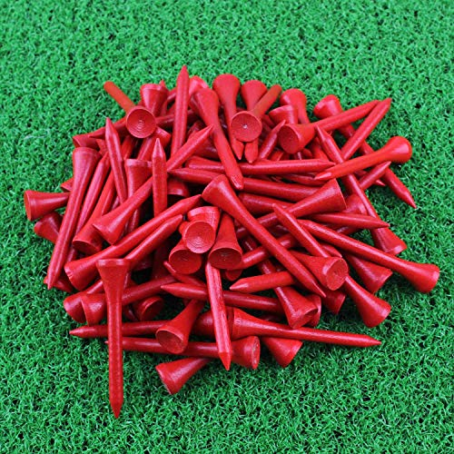 Crestgolf Wood Golf Tees 2-1/8 inch Pack of 100 (red)
