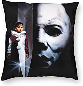 Moc.Deamiarr Halloween Decorations Michael Myers Throw Pillow Covers Cushion Cases for Couch Sofa Bed Living Room Decor 18 X 18 Inch