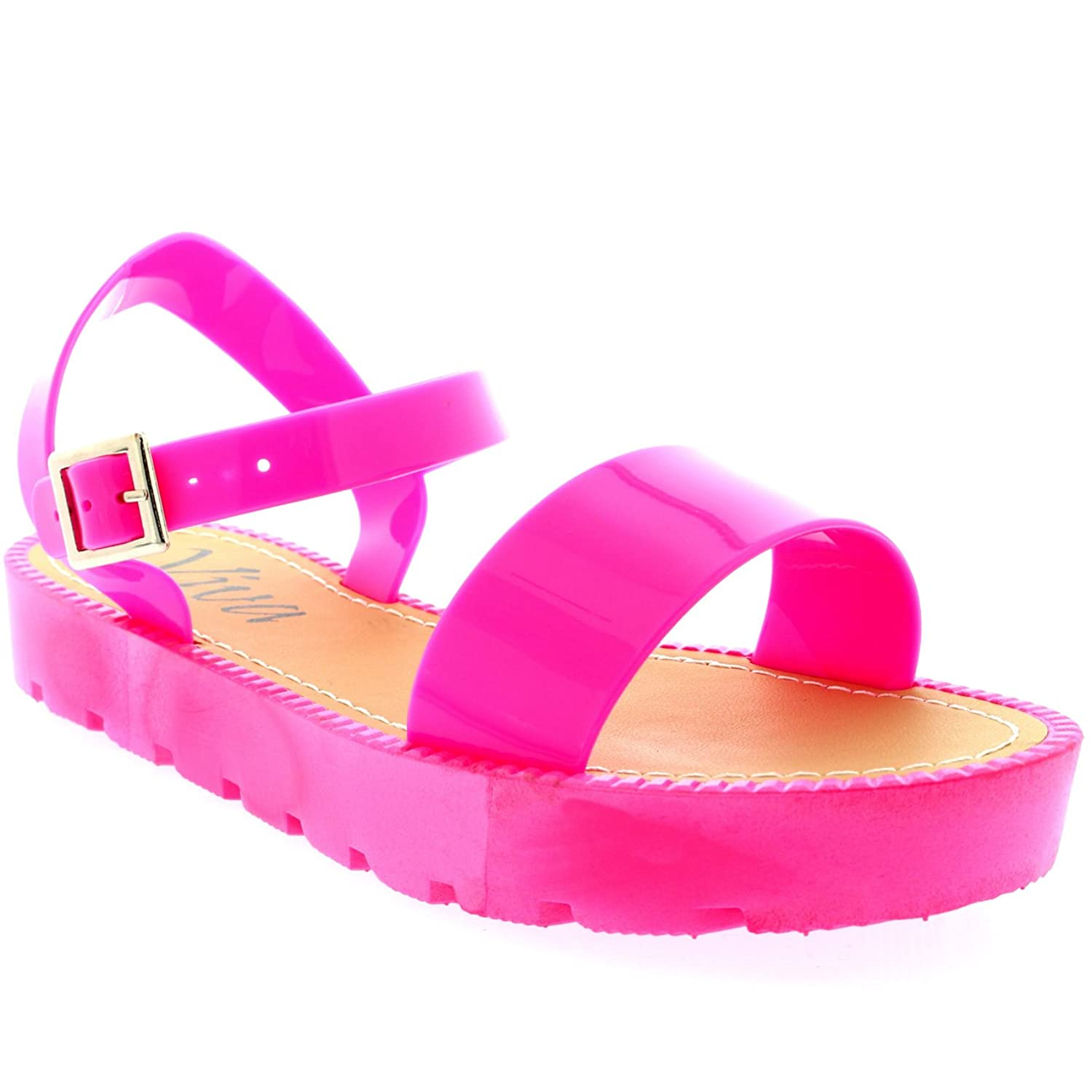 61f3a59058b1 Viva Womens Flatform Buckle Peep Toe Wedge Vacation Festival Strappy  Sandals - Casual Women s Shoes