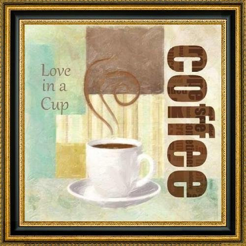 """LOVE IN A CUP by Taylor Greene - 24"""" x 24"""" Framed Premium Canvas Print"""