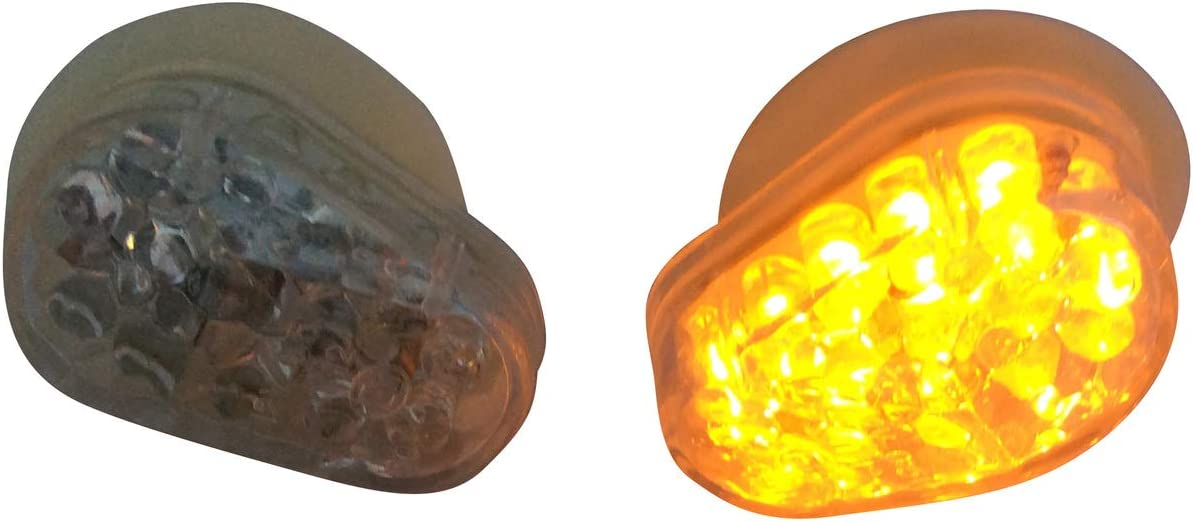 Paar Verkleidung Flush Halterung E Geprüft Led Blinker Für Motorrad Klare Linse Auto