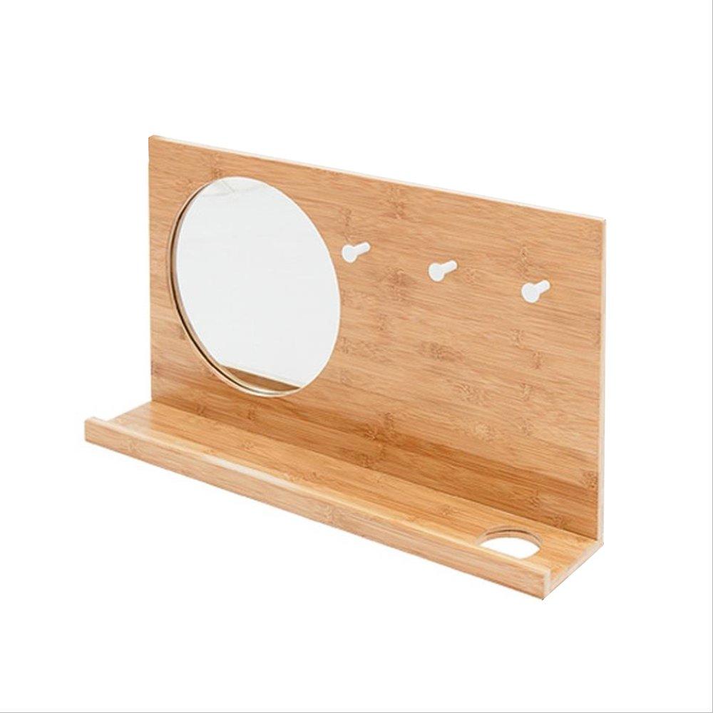 竹の壁にマウントされた環境にやさしい材料防水と湿気の不安定な棚のフックで歪む自然な竹のパターンは、すべての機会に適して多機能クリエイティブな吊りミラー (色 (色 : : 40x70CM) 40x70CM) B07F83J4T5 40x70CM, コウヅシマムラ:05516f72 --- rdtrivselbridge.se
