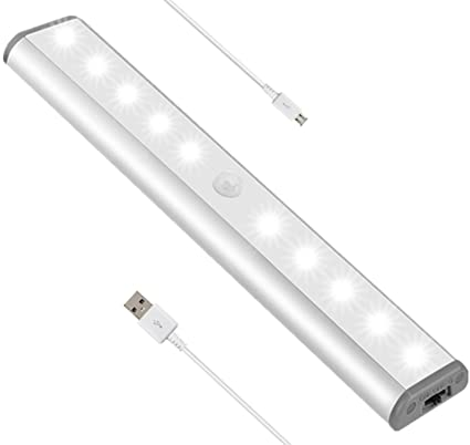 Luz Nocturna Luces Armario Con Sensor Movimiento 10 Led Del Sensor De Movimiento Con El ImáN
