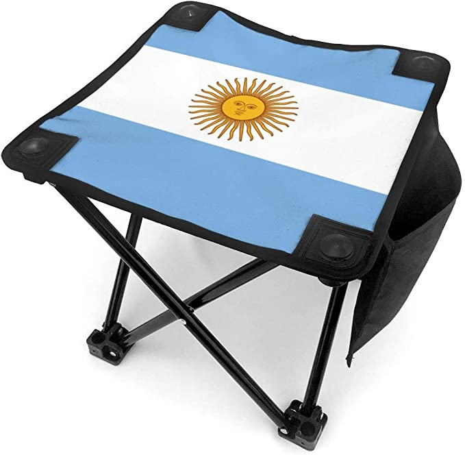 liang4268 Taburete de Camping Flag of Argentina Lightweight Folding Camping Stool Portable Fishing Camp Chair: Amazon.es: Jardín