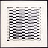 12''w X 12''h Aluminum Return Filter Grille with Easy Push Self Lock & Re-Useable Mesh Filter - Return Air HVAC Vent Duct