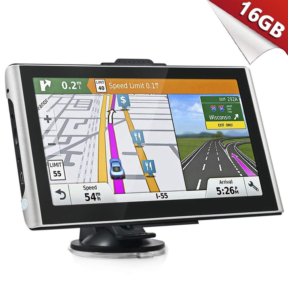 Kainuoa GPS Auto Schwergewicht Auto 7 Zoll Android System 4.4.2 Navigation 16 GB WiFi Bluetooth Bildschirm HD Touch Mapping Europa frei fü r Das Leben