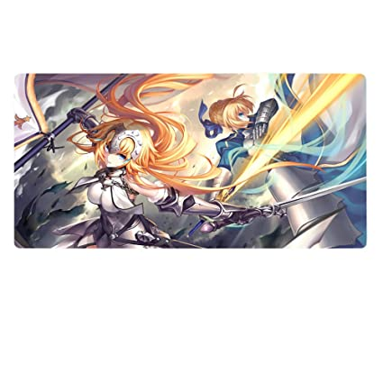b58c429f2cb Amazon.com : Rain's Pan Anime Fate Grand Order Cosplay Non-slip Rubber Big  Gaming Mouse Pad.20×39Inches (05) : Office Products