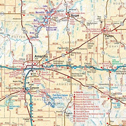 Map Of Western Texas.Western Texas Recreation Map