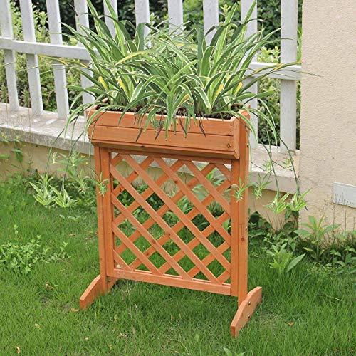 (Giantex Outdoor Garden Fir Wood Raised Bed Planter Stand Flower Yard Landscape Box)