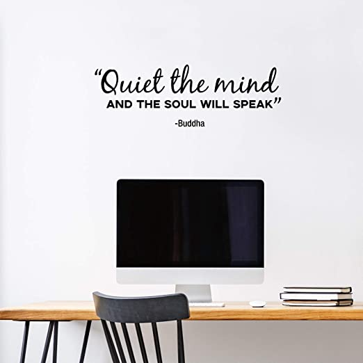 Still The Mind Wall Decals Quotes Vinyl Wall Decal Yoga Wall Quotes Silence
