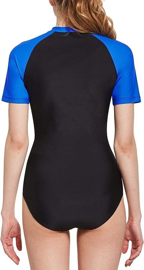 s-XXXL UR MAX BEAUTY Womens Print Surf Suit Long Sleeve Top with Bottom Rash Guard Tankini Swimsuit ,Color2,XXXL