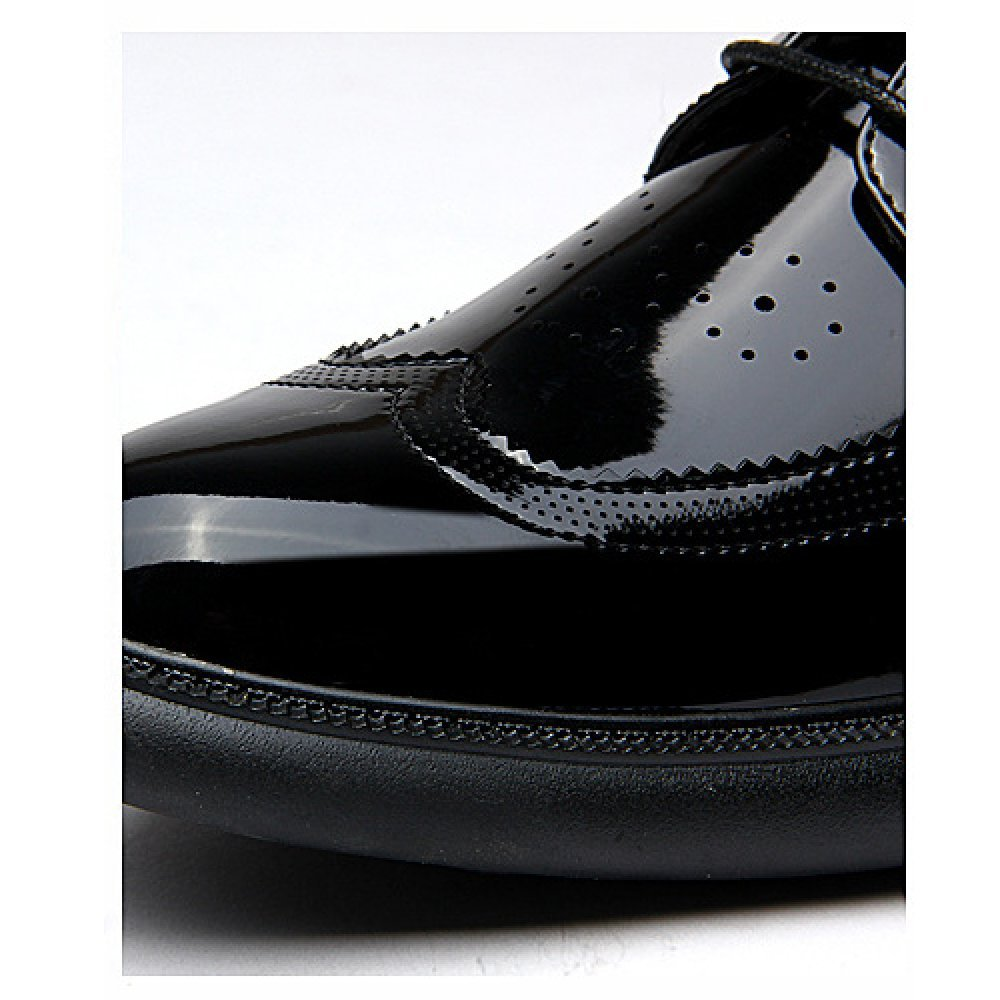 Bullock Geschnitzte Schnürschuhe Herrenschuhe Business Lederschuhe Mode Schnürschuhe Geschnitzte schwarz be1f94