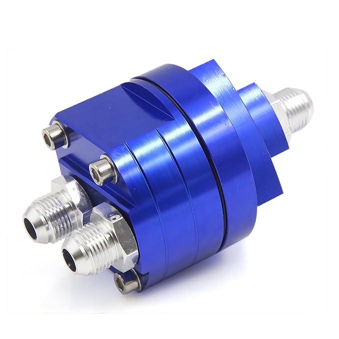 Amazon.com: eDealMax aceite de Metal Azul filtro de bloque de adaptadores enfriador de placas Para el carro del coche del vehículo: Car Electronics