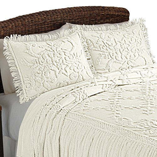 Cottage Floral Lattice Chenille Standard
