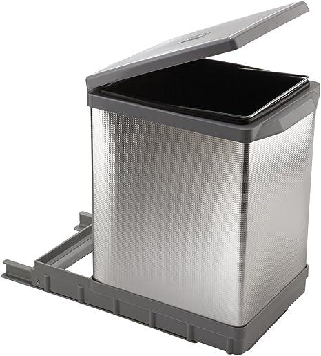 Amazon Com Elletipi Tower Pal609 1all Cubo De Basura Automático Extraíble Para Base Plástico Y Aluminio Gris 9 8 X 16 1 X 15 6 In Kitchen Dining
