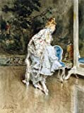 Art Oyster Giovanni Boldini The Beauty Before The Mirror - 21.1'' x 28.1'' 100% Hand Painted Oil Painting Reproduction