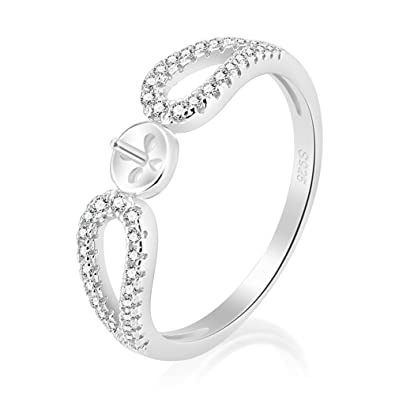 925 Sterling Silver Infinity Love Cubic Zirconia Engagement Rings Mounting Beautiful Diy Jewelry For Women Sizes 6 10
