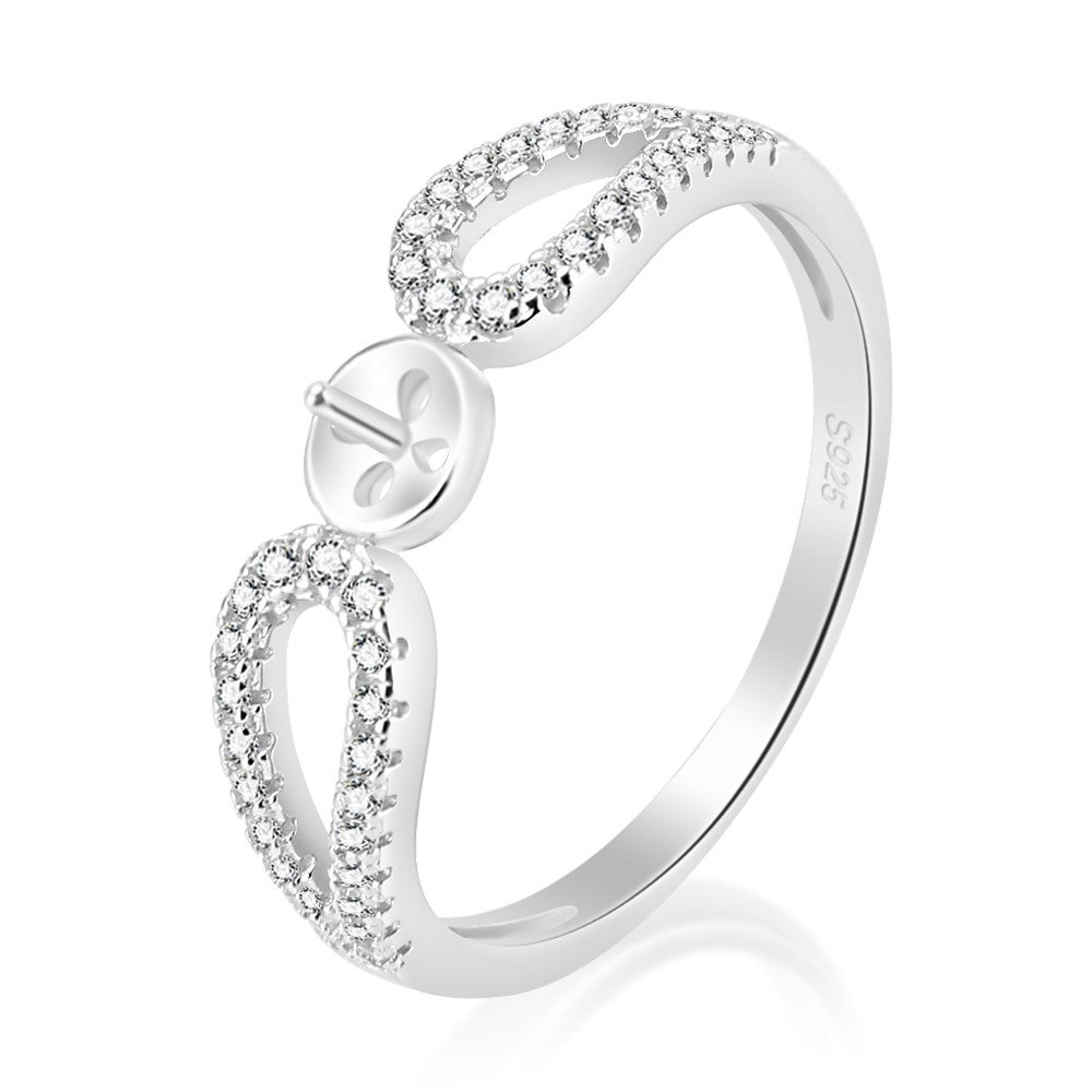 LGSY Infinity Love Silver Cubic Zirconia Engagement Ring Mountings Beautiful Jewelry For Women Sizes 6-10
