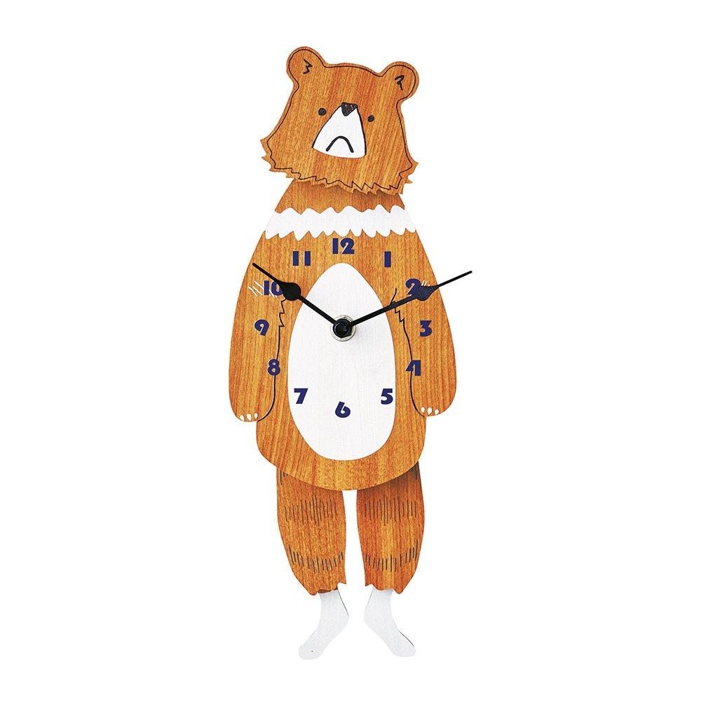 インターフォルム 振り子時計 ブラウンベア Brown Bear 熊 振り子 CL-1368 B014UKZ1IG