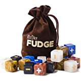 20 Fudge Dice GM Starter Pack: Terrestrial - 5 Sets of 4 Fudge Dice with Chocolate Brown Carry Bag by Wiz Dice
