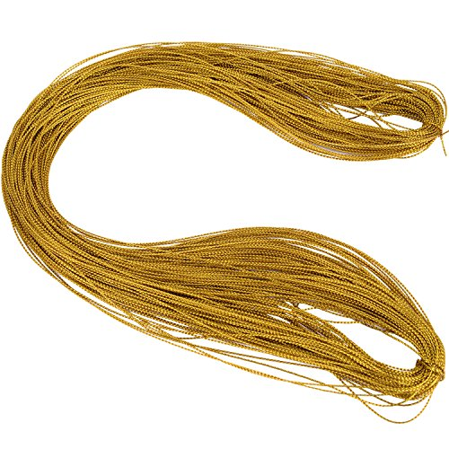 Shappy Metallic Cord Jewelry Thread Craft String Lift Cord for Jewelry and Craft Making, Gold, 100 Meters/ 109 Yards (Gold Metallic Thread)