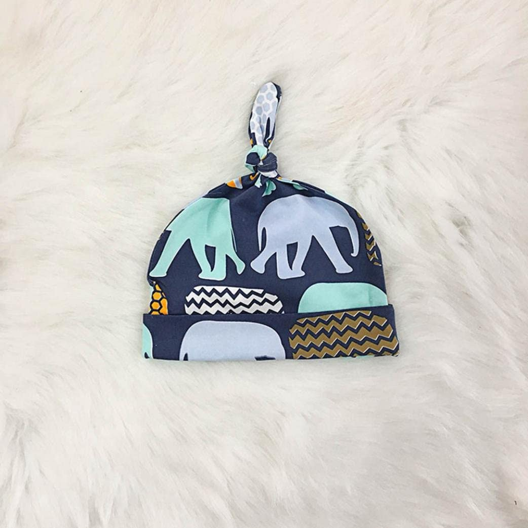 Casual 4PCs Infant Baby Boy Letter Print Romper Elephant Pant+Hat+Headband Outfits Set
