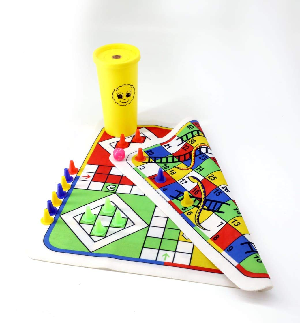 Ludo and Snakes & Ladders, Reversible 2 in 1 Game Set