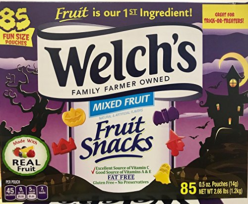 Welch's Fruit Snacks - Special Halloween Shapes - 85 Pouches - Value Pack! (Halloween Kid Snacks)