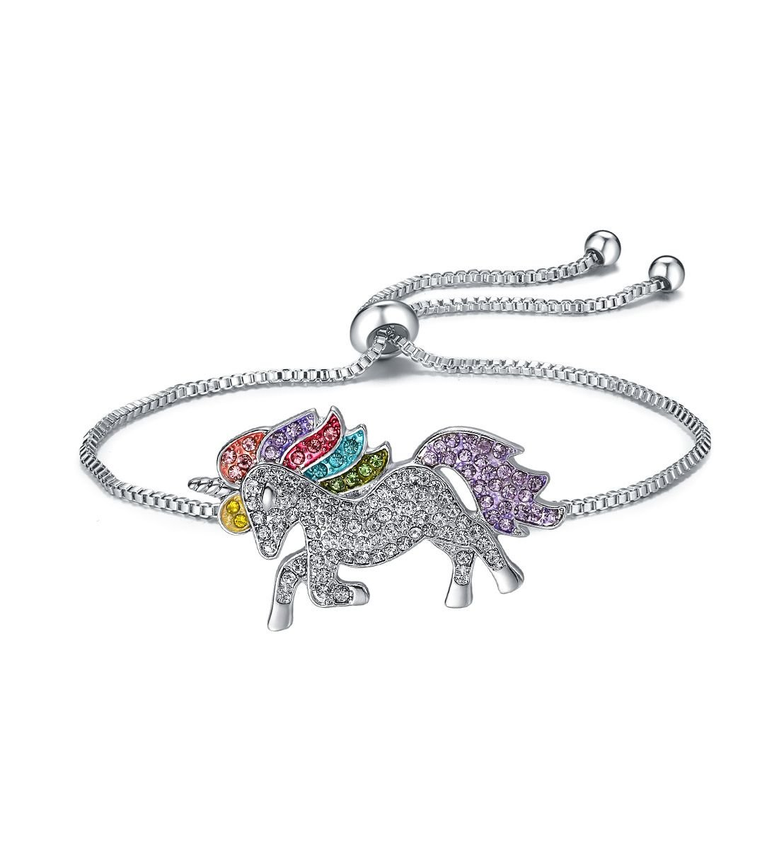 elementact Unicorn Rainbow Bracelet Little Pony Birthday Gifts for Women Girl 4