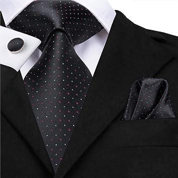 HYCZJH Conjunto de Corbata de Seda 8.5 cm Hombre Punto ...