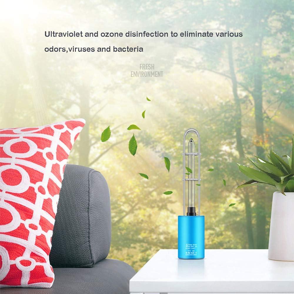 Ozon UV-Lampe Tragbare Lampe Reinigungslicht Lampe UV Keimt/ötendes Licht Wiederaufladbarer Sterilisator Licht /& Luftreiniger Ultraviolett