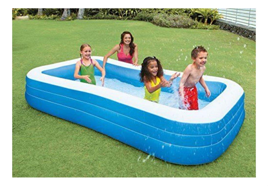 Amazon.com: Gran familia centro de piscina hinchable agua ...