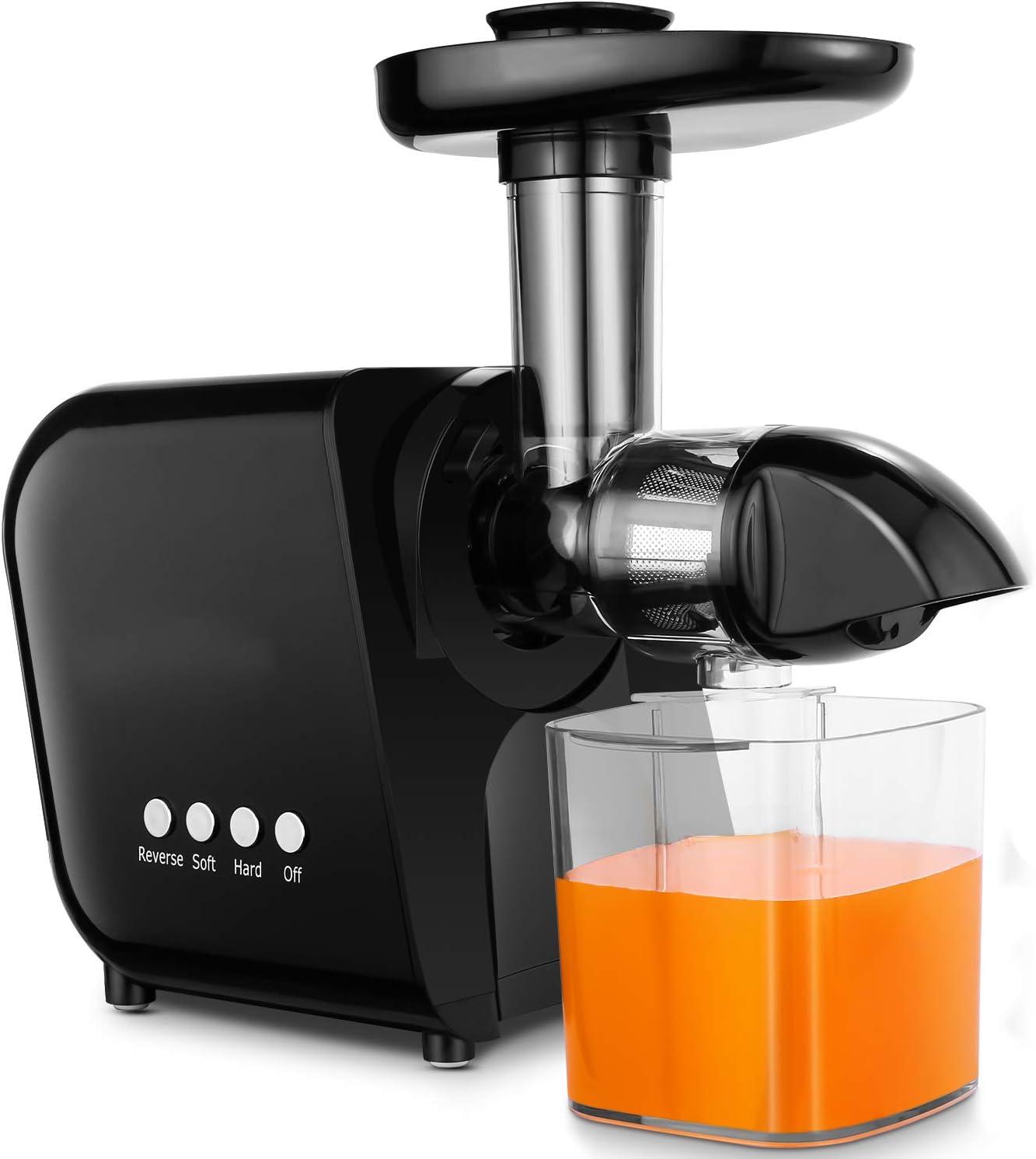COOCHEER Extractor de zumos,Licuadora Frutas y Verduras,Slow ...