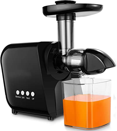 COOCHEER Extractor de zumos,Licuadora Frutas y Verduras,Slow Juicer con Función Inversa y Motor Silencioso,con Taza de jugo y Cepillo de limpieza: Amazon.es: Hogar
