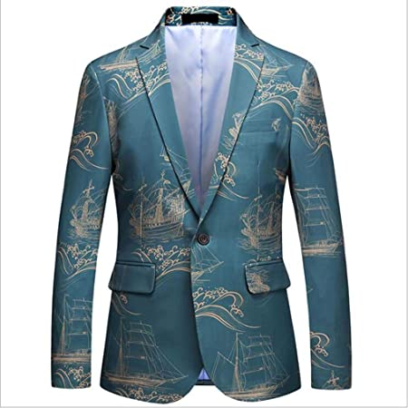 Chaqueta de caballero coreano, traje azul claro de los ...