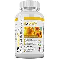 BeShiny Vitamine C 1000 mg Maximaal bleken van de huid met rozenbottels en bioflavonoïden Supplement voor…