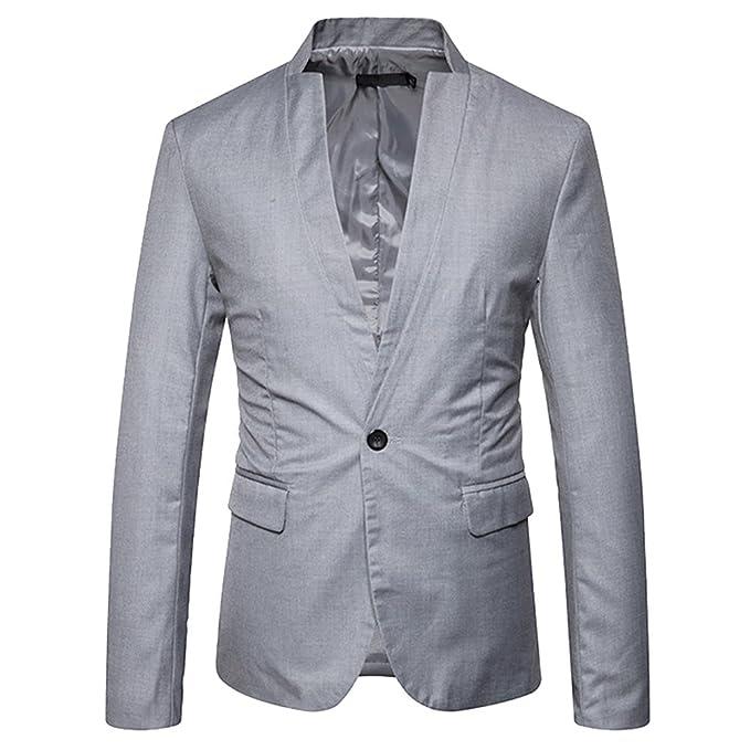 Chaquetas de Traje Casual Americana Trajes de Verano Blazer para Hombre: Amazon.es: Ropa y accesorios