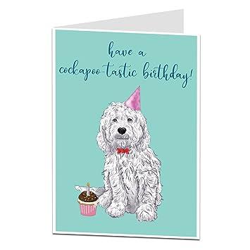 Home, Furniture & DIY Handmade Personalised Cockerpoo Labradoodle Birthday Card Cards & Invitations