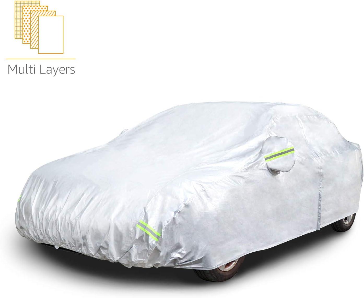 Basics PEVA mit Baumwolle Wetterfeste Auto-Abdeckung silberfarben SUVs bis 480/cm