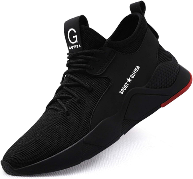 KGJIANDA Steel Toe Shoes for Men Lightweight Breathable Composite Toe Shoes Slip Resistant Industrial Construction Safety Shoes Work Shoes for Men: Shoes