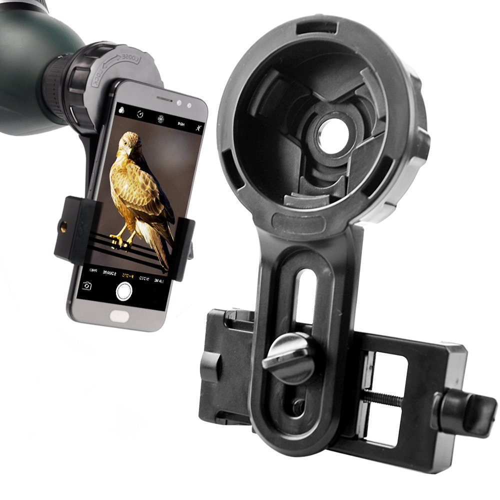 DoubleSun Spotting Scope Cellphone Mount-Design for Binocular Monocular Telescope and Spotting Scope