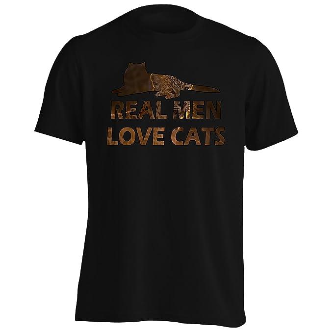INNOGLEN Los Hombres De Verdad Aman Los Gatos Camiseta de los Hombres r899m: Amazon.es: Ropa y accesorios