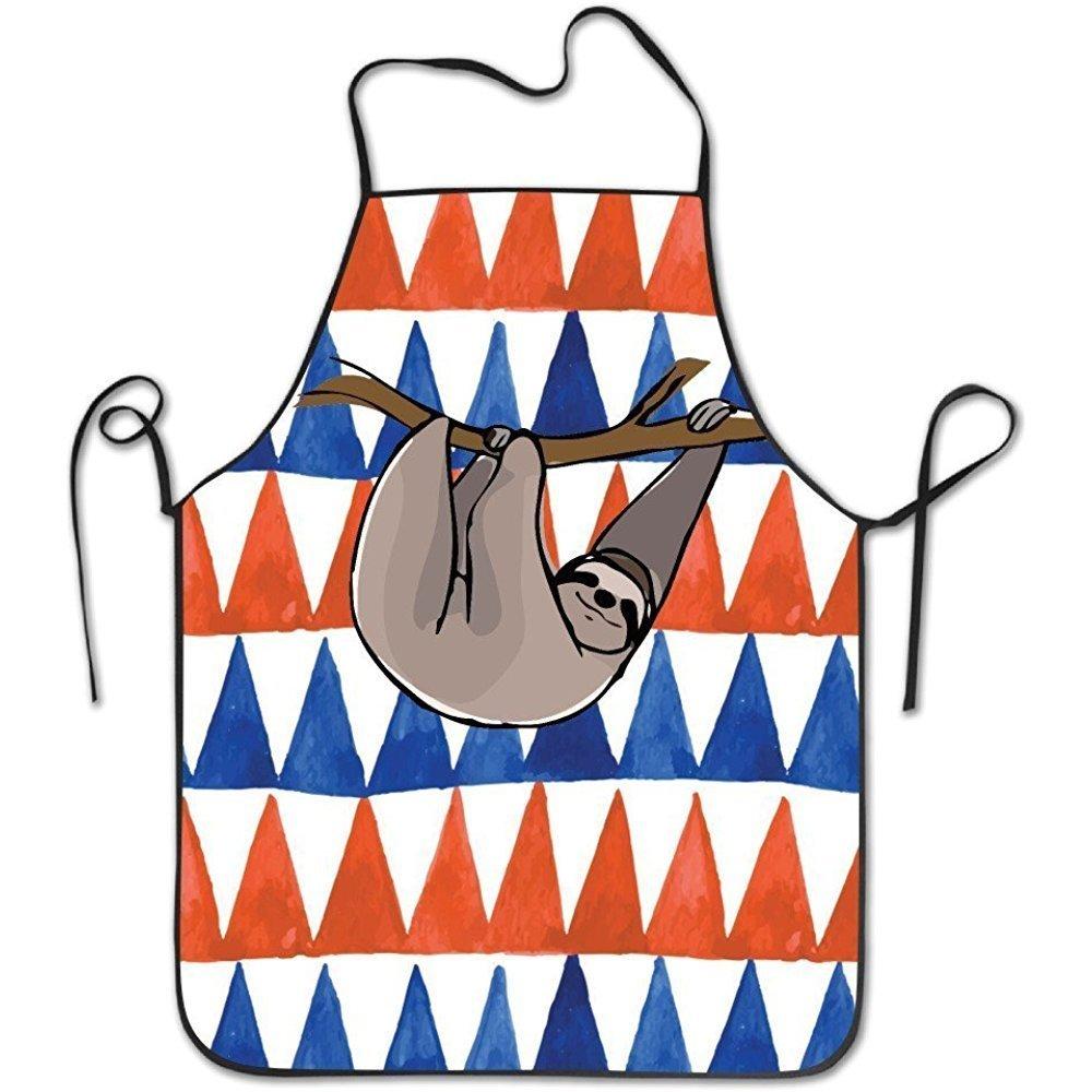 ファッションThe Slowナマケモノ調節可能なよだれかけシェフエプロンホームキッチンエプロンfor Baking Easy Care   B07DHDYJT4