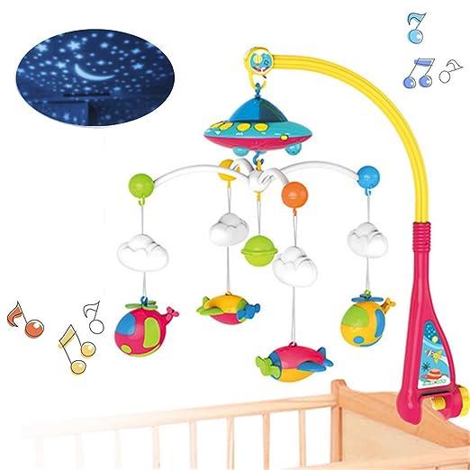 HBIAO Juguete móvil de Cuna Musical para bebés con Luces y ...