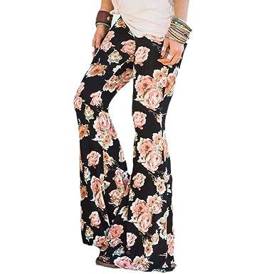 Tenworld Womens High Waist Wide Leg Long Palazzo Pants Flare Bottom Yoga Pants (S,
