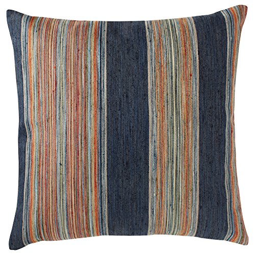 "6104gi7EmWL - Rivet Bohemian Stripe Pillow, 17"" x 17"", Ink"