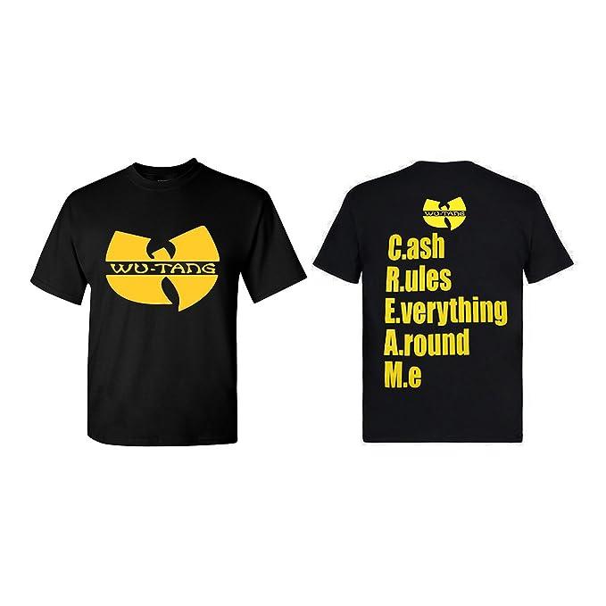 9444c11b Amazon.com: Hip Hop Legends Wu-Tang Cream Logo Unisex Classic Black T-Shirt  - Multiple Sizes: Clothing